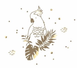 Sticker Golden Parrot